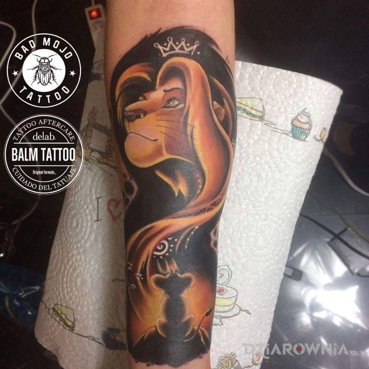 Tatuaż Bajka Z Dzieciństwa 3 Król Lew Studio Bad Mojo