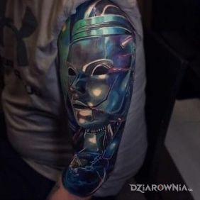 Metalowa maska