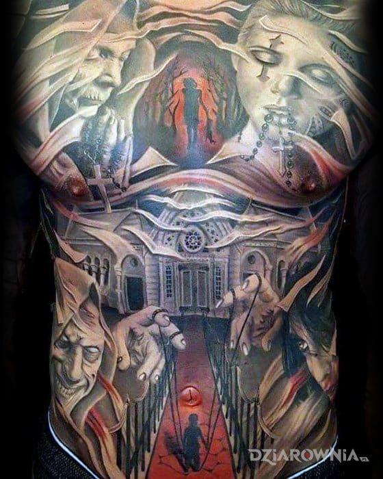 Tatuaż demony - realistyczne