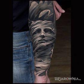 Tatuaże 3D, twarz, dziara dla mężczyzn