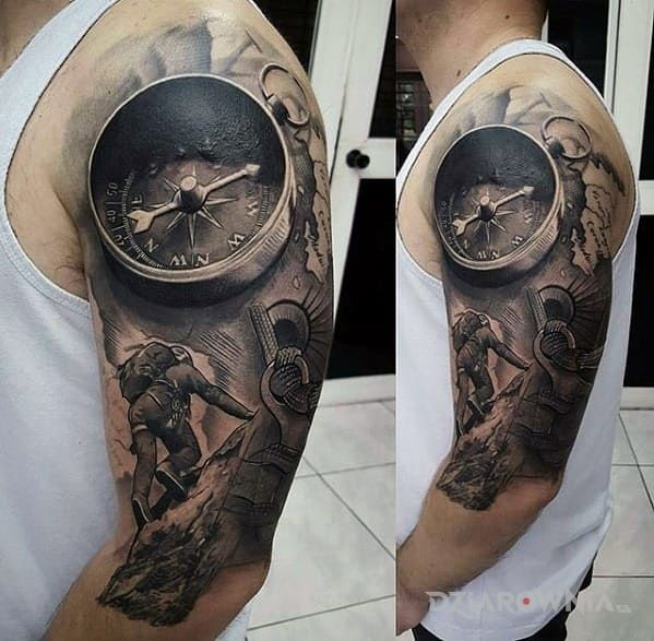 Tatuaż Podroznik Autor Boogieman Dziarowniapl