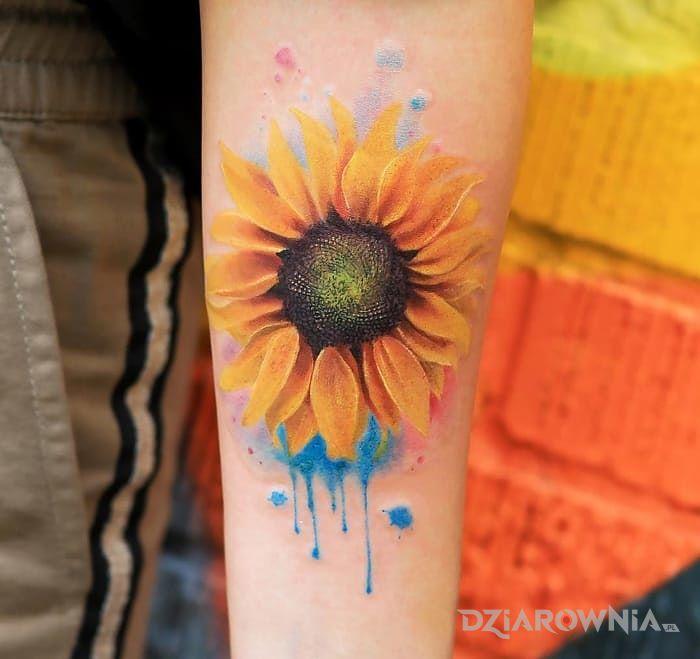 Tatuaż słonecznik - kwiaty