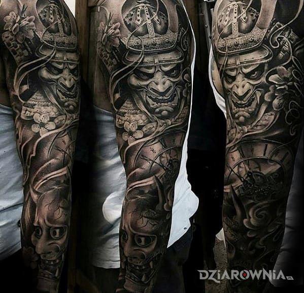 Tatuaż Samurajski Rękaw Autor Rastamaniek96 Dziarowniapl
