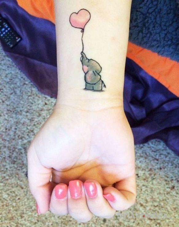 Tatuaż słonik - zwierzęta