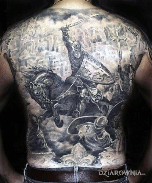 Tatuaż krucjata - 3D