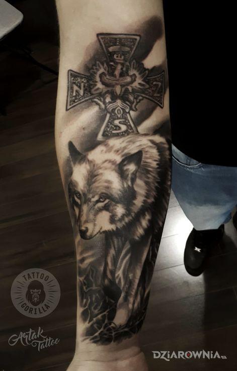 Tatuaż Wilk Studio Studio Tatuażu Gorilla Dziarowniapl