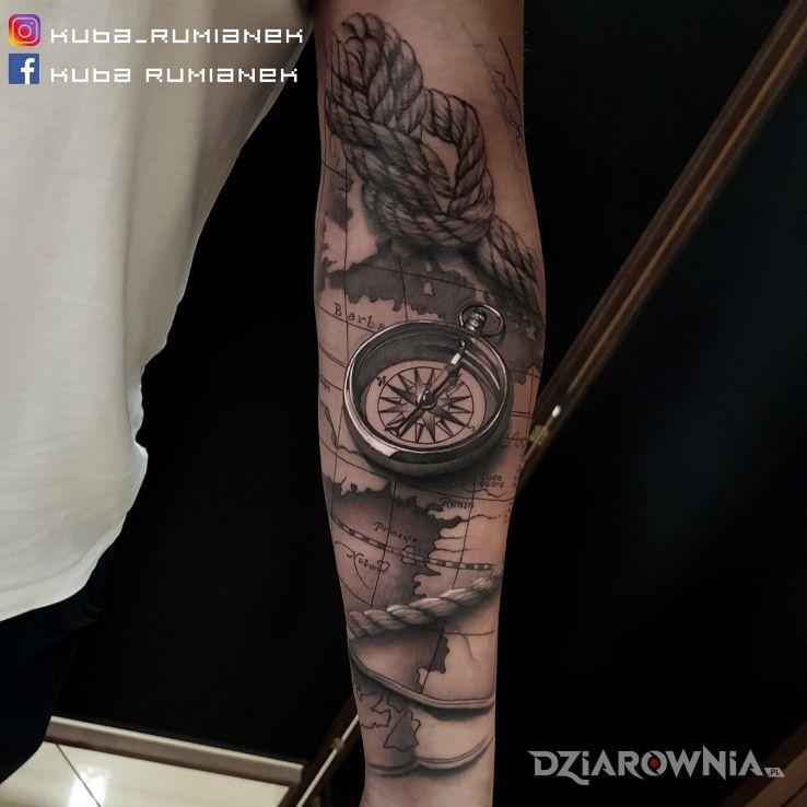 Tatuaż Kompas Autor Rumianek Dziarowniapl