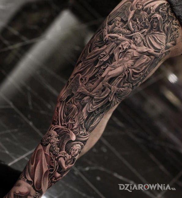 Tatuaż Ukrzyżowanie Jezusa Autor Sztacheta Karol