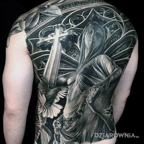 Tatuaż Kościół Autor Goo Goolen Dziarowniapl