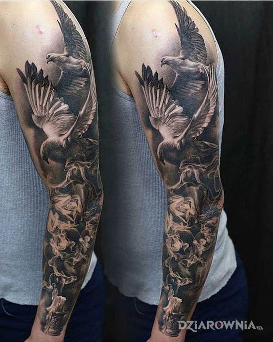Tatuaż Białe Gołębie Autor Dragon Dziarowniapl