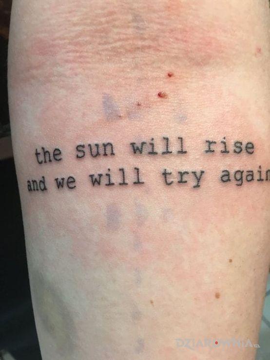 Tatuaż Napis Po Angielsku Autor Jaszczur89 Dziarowniapl