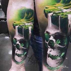 Zielona czaszzka