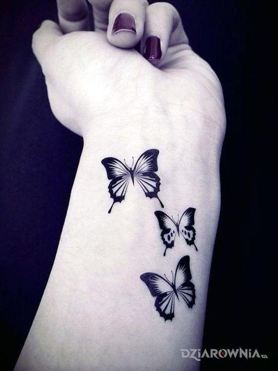 Tatuaż Trzy Motyle Autor Nesse Dziarowniapl