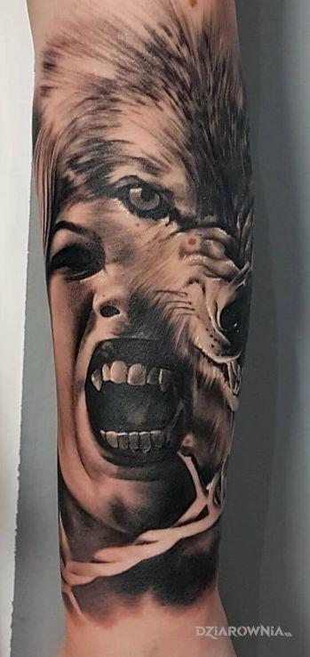 Tatuaż Wampire Wolf Tatoo Autor Pusz3k Dziarowniapl