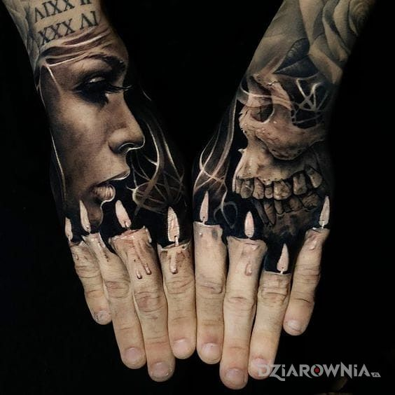Tatuaż świeczki Autor Skorpion Dziarowniapl
