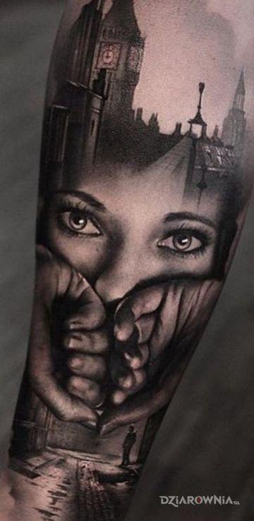 Tatuaż Kobiece Oczy Autor Papek Dziarowniapl
