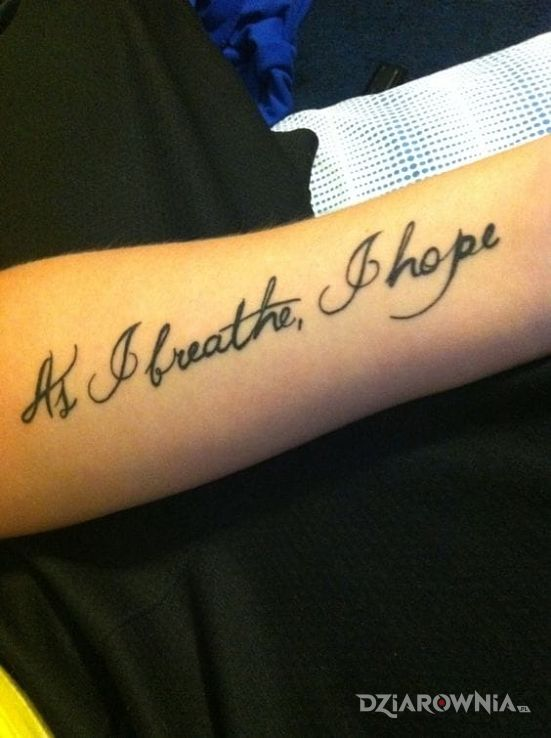 Tatuaż nadzieja - napisy