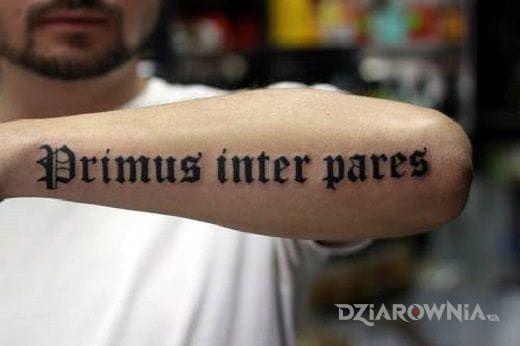 Tatuaż łacina Autor Simson123 Dziarowniapl