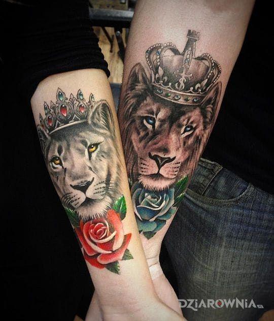 Tatuaż Lew I Lwica Autor Nesse Dziarowniapl