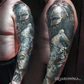 Tatuaże 3D, wojownik, dziara dla mężczyzn