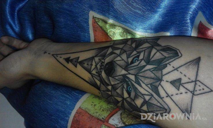 Tatuaż Przedramię Geometryczny Autor Wolftattoo