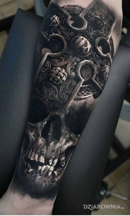 Tatuaż ciemna czaszka - 3D