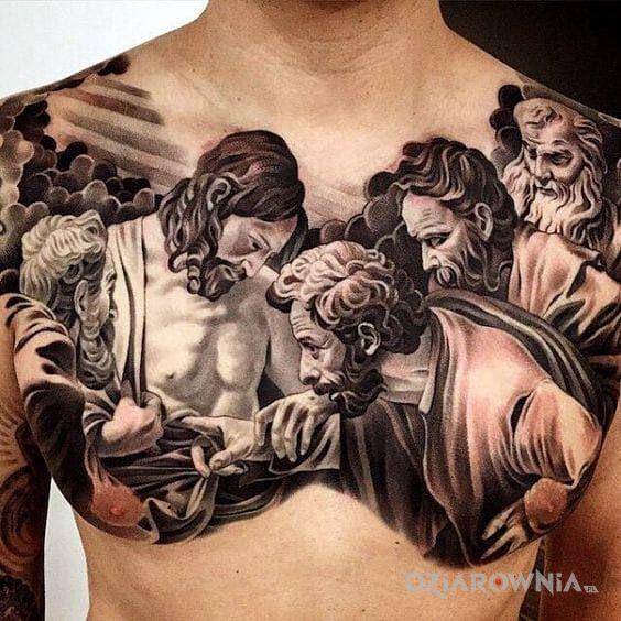 Tatuaż Jezus Autor Suuk Dziarowniapl