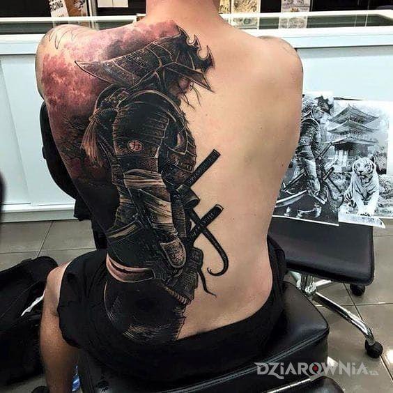 Tatuaż Samuraj Autor Saszunik Dziarowniapl