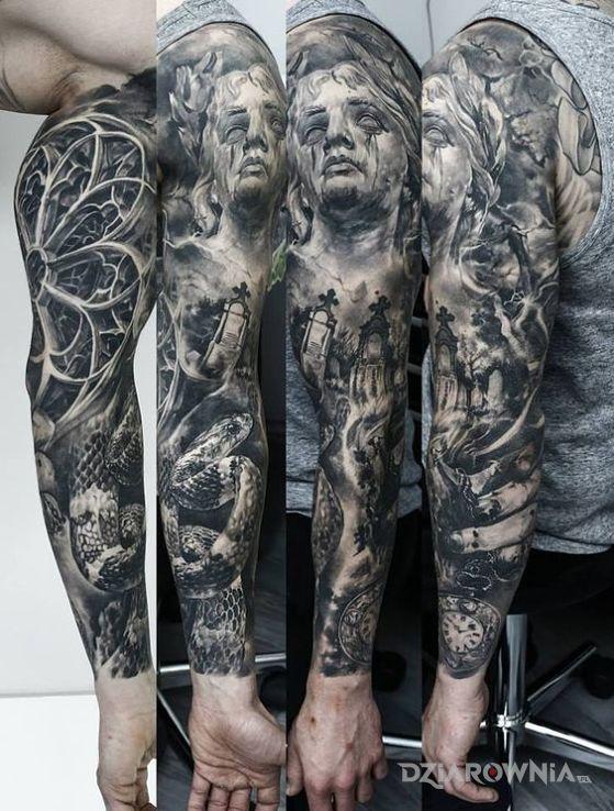 Tatuaż Waz I Cmentarz Autor Rastamaniek96 Dziarowniapl
