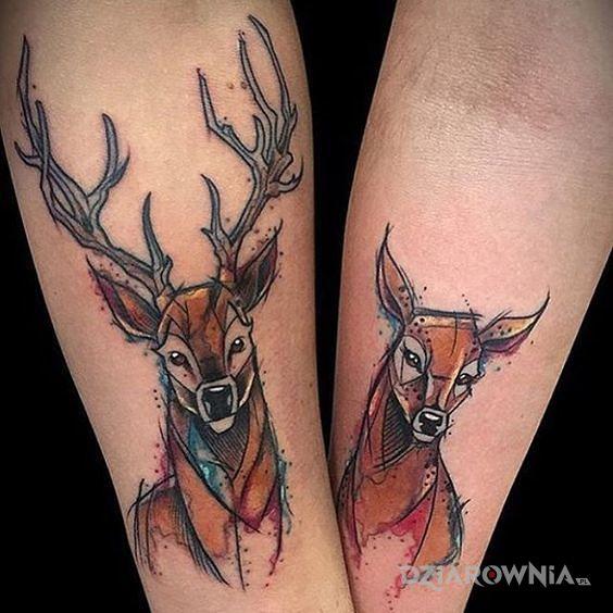 Tatuaż jelonki - miłosne