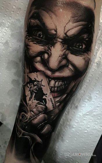 Tatuaż Joker Autor Matrioszka Dziarowniapl