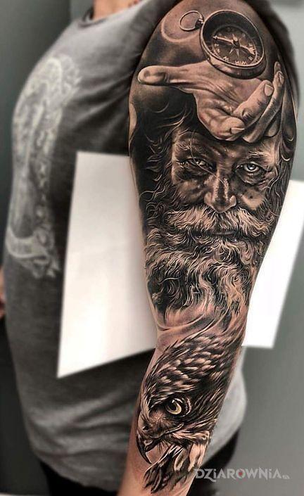 Tatuaż Dziadzia I Orzel Autor Siema Nara Dziarowniapl