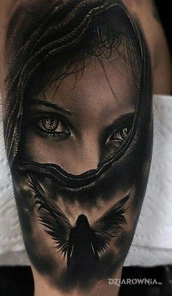 Tatuaż postać anioła w motywie anioły i stylu realistyczne na ramieniu