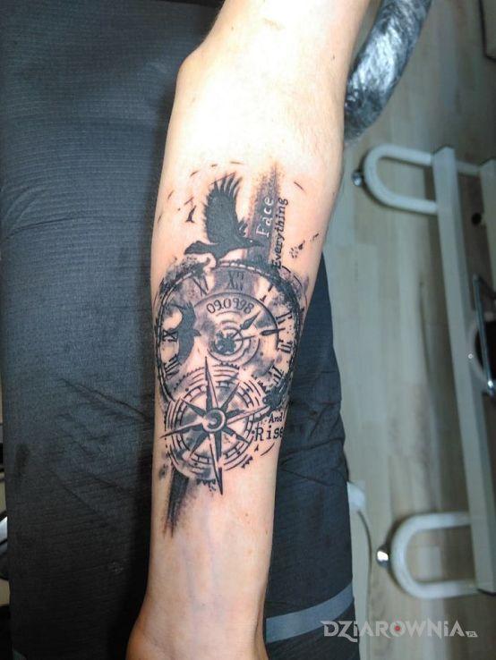 Tatuaż Zegar Studio N Tattoo Dziarowniapl