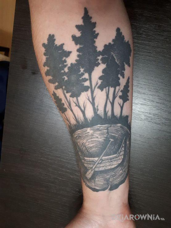 Tatuaż Pień Z Herbem łodzi Autor Adam Ziółkowski