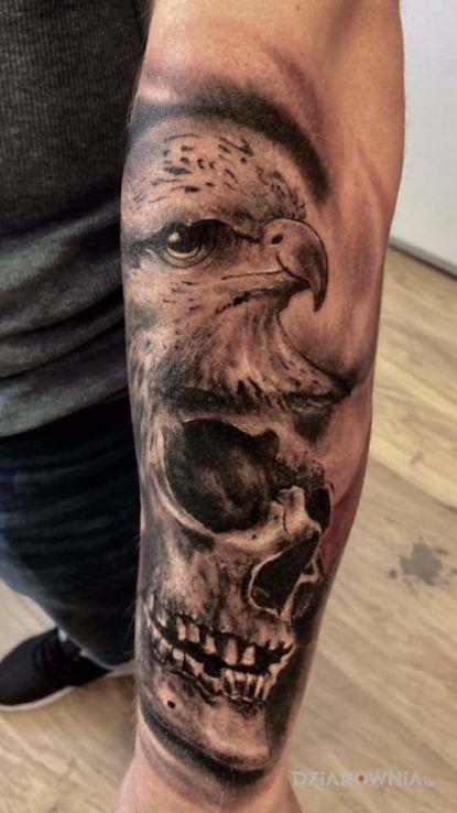 Tatuaż Orzeł I Czaszka Autor Seweryn Sokołowski