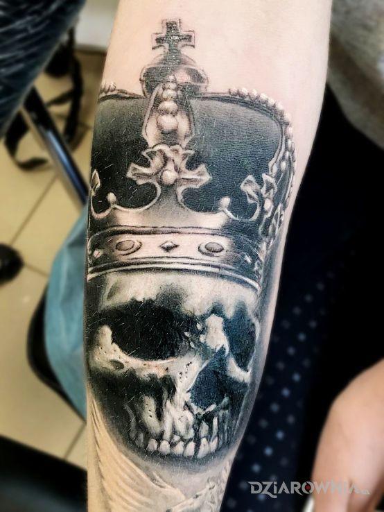 Tatuaż Czaszka Korona Autor Bghtattoostudio Dziarowniapl