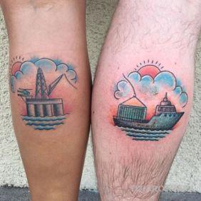 Statek i przystań