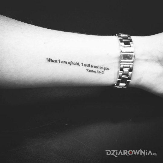 Tatuaż Cytat Z Biblii Autor Andrzej21111 Dziarowniapl