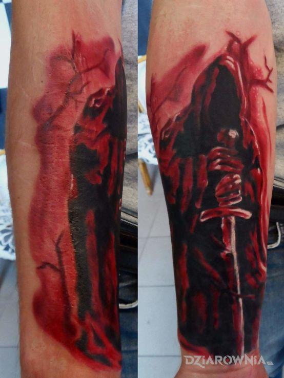 Tatuaż Anioł Stróż Autor Karol Jan Sobieraj Dziarowniapl
