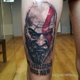 Tatuaże kolorowe, bog wojny, dziara dla mężczyzn
