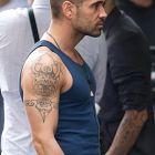 Colin Farrell - tatuaż na ramieniu