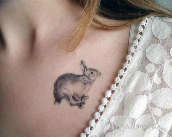 Tatuaż kroliczek - zwierzęta
