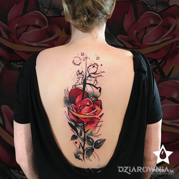 Tatuaż Mały Książę Studio Mokotusz Dziarowniapl