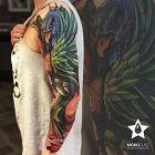 Rękaw kolorowy z motywem feniksa
