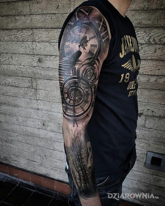 Tatuaż załamanie czasu - 3D