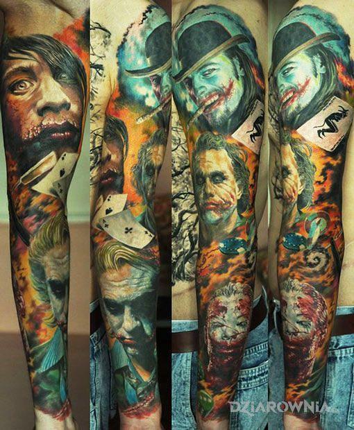Tatuaże kolorowe, jokery, dziara dla mężczyzn