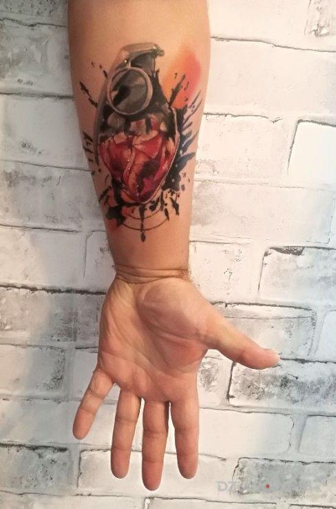Tatuaż życie i śmierć - kolorowe