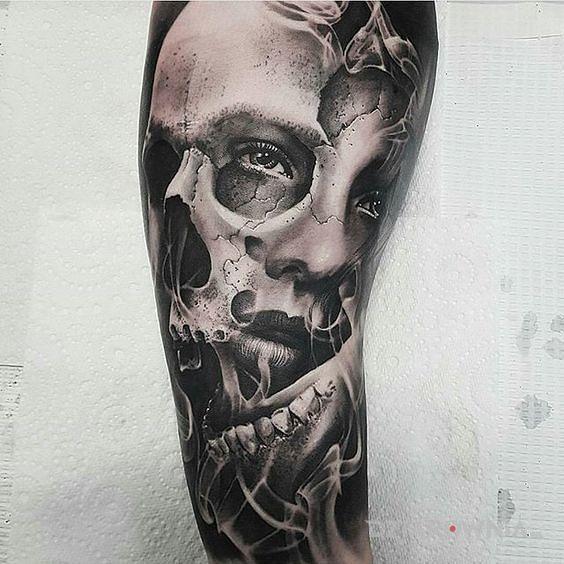 Tatuaż czacho-twarz - twarze