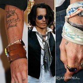Johnny Depp - tatuaż jack